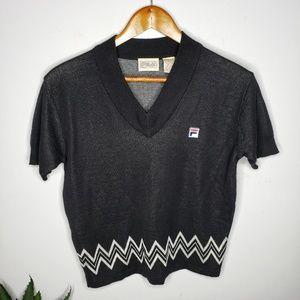 Flia Vintage Short Sleeve Sweater